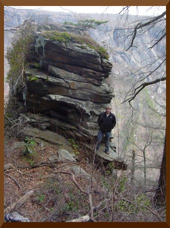 Razor's Edge Rock on Rockjock in Linville Gorge