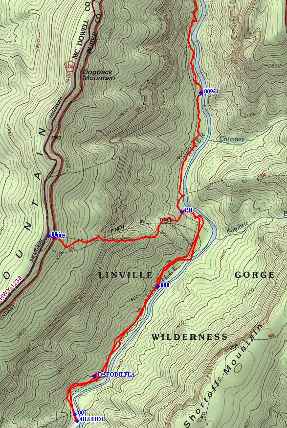 Linville Gorge Trail Database Www Linvillegorge Net